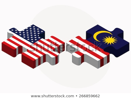 USA and Malaysia Flags in puzzle Stock photo © Istanbul2009