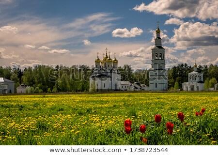 Ortodoxo igreja cidade calendário qualidade cristão Foto stock © fanfo