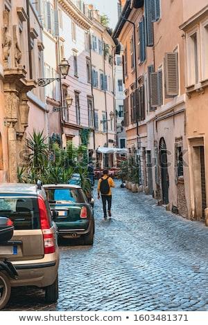 古い ローマ イタリア 家 市 通り ストックフォト © haraldmuc