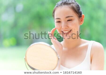 Сток-фото: портрет · Японский · макияж · женщину
