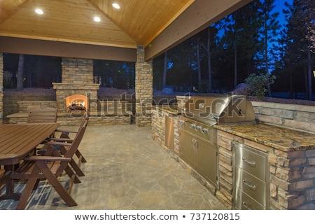 outdoor kitchen Stock photo © artfotoss