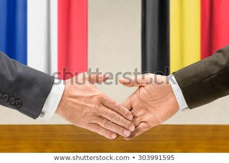 França Bélgica apertar a mão mãos mão reunião Foto stock © Zerbor