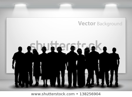 Silhouettes of People Indoor Stock photo © stevanovicigor