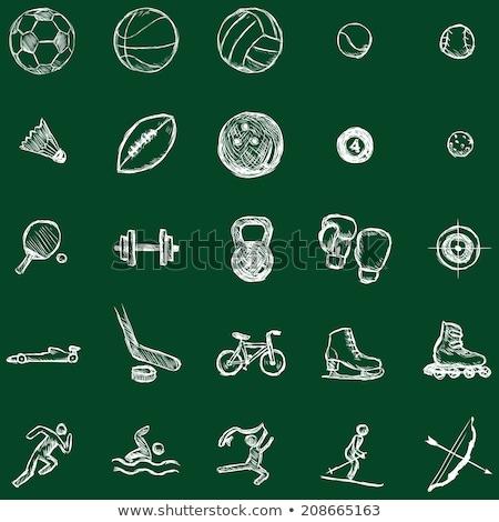 ストックフォト: ケトルベル · 手 · 描画 · スポーツ · アイコン · 優れた