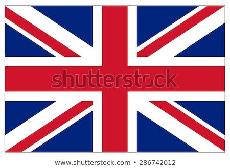Stock fotó: Zászló · Egyesült · Királyság · brit · zászló · kereszt · felirat · fehér