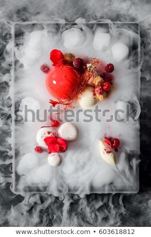 Molekuláris gasztronómia desszert csillagok arany magazin Stock fotó © joannawnuk