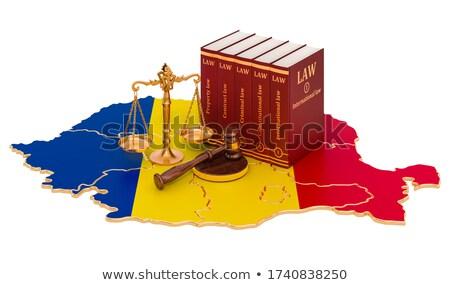Martillo ley libro Rumania bandera justicia Foto stock © Zerbor