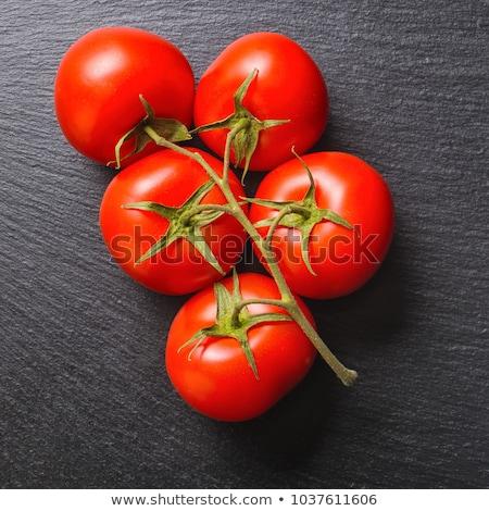 dal · domates · siyah · kırmızı · domates · su - stok fotoğraf © Niciak