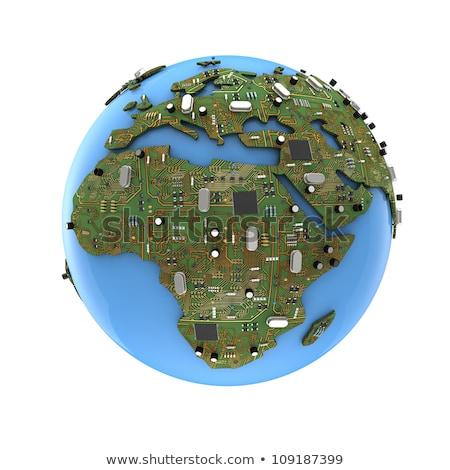 Dünya cpu yonga Stok fotoğraf © devon