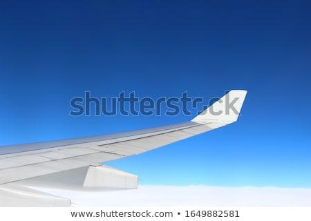 Avion aile ciel bleu céleste scène battant Photo stock © artush