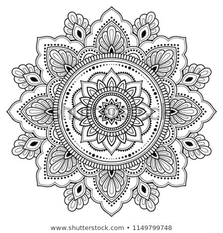 vetor · étnico · círculo · abstrato · decorativo - foto stock © frescomovie