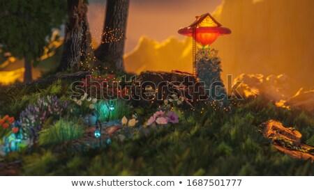 elf jungle 3d illustration  3d rendering stock photo © ankarb