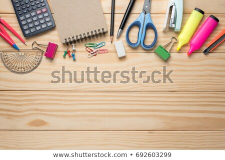 Office tools and notepad on table Stock photo © fuzzbones0
