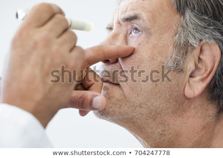 Senior man eyes. Stock photo © Kurhan