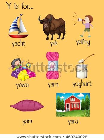 Lettre yaourt illustration alimentaire fond art Photo stock © bluering