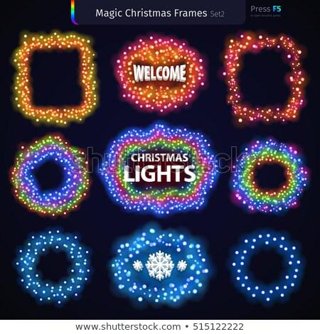 ストックフォト: 魔法 · クリスマス · フレーム · カラフル · デザイン