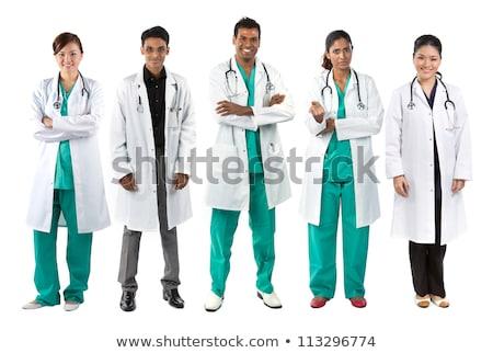 retrato · jóvenes · médicos · profesional · encantador - foto stock © szefei