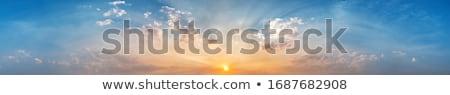 Nyugalmas nap absztrakt természet kék szín Stock fotó © IMaster