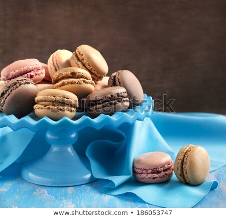 Francés café chocolate vainilla frambuesa Foto stock © Yatsenko