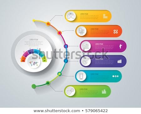 3D modelo de design marketing ícones negócio Foto stock © rwgusev
