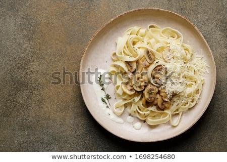 Makarna tagliatelle İtalyan seçici odak makro detay Stok fotoğraf © homydesign