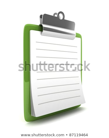 File Card with Form. 3D Rendering. Stock photo © tashatuvango