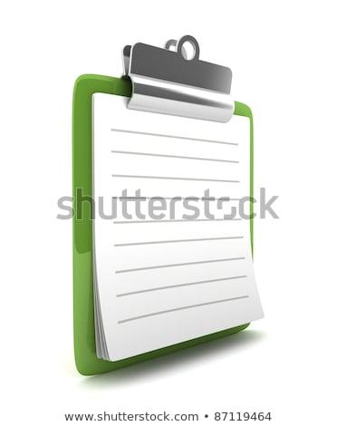 File Card with Form. 3D Rendering. Stock photo © tashatuvango