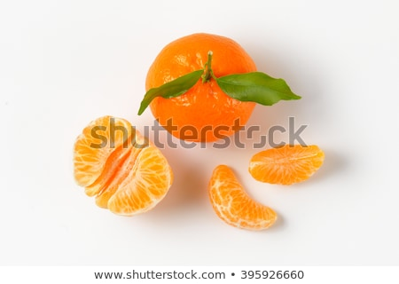 Stock photo: tangerines with separated segments