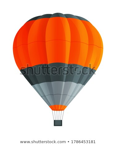 Airship Grey Balloon Aerostat Isolated on White Stock photo © robuart