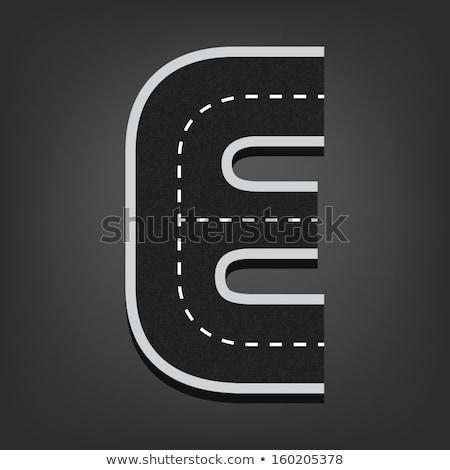 letter e on asphalt road stock photo © stevanovicigor