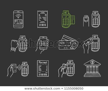 E-Banking Concept. Doodle Icons on Chalkboard. Stock photo © tashatuvango