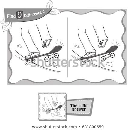 find 9 differences game  skateboard Stock photo © Olena