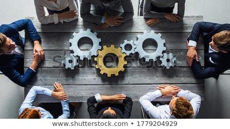 Affaires innovation or Cog engins mécanisme Photo stock © tashatuvango