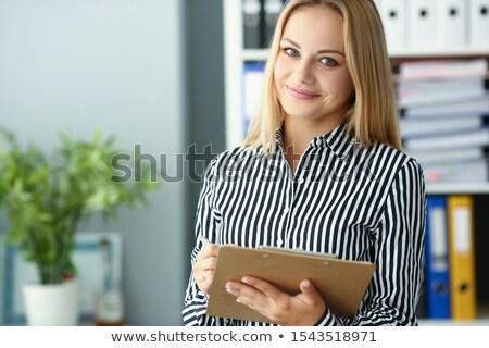 Negócio estatística dobrador turva imagem escritório Foto stock © tashatuvango