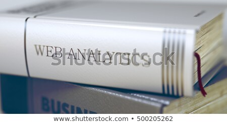 Web Analytics Concept on Book Title. 3D. Stock photo © tashatuvango