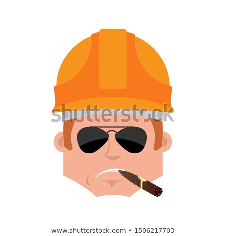 строителя серьезный эмоций Аватара работник Сток-фото © popaukropa
