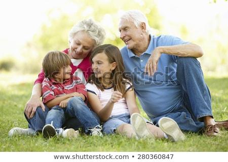 calme · couple · enfant · à · naître · femme · sourire - photo stock © is2