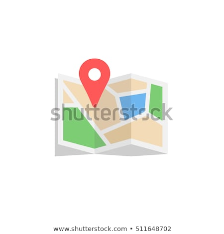 GPS map flat icon Stock photo © smoki