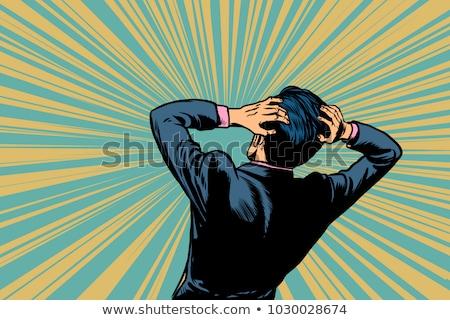 shocked man back human reaction stock photo © studiostoks