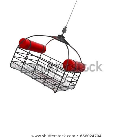 ilustração · 3d · resgatar · cesta · helicóptero · pôr · do · sol - foto stock © anadmist