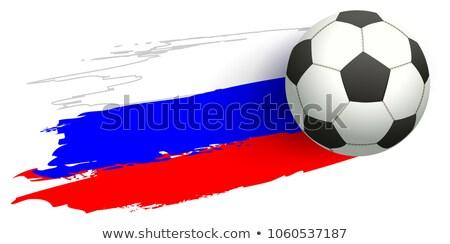 Rusland voetbal kampioenschap voetbal vliegen vlag Stockfoto © orensila
