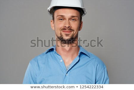 business man with white safety hat Stock photo © hsfelix