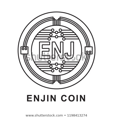 Enjin Coin Digital Currency Coin. Vector Icon of ENJ. Stock photo © tashatuvango