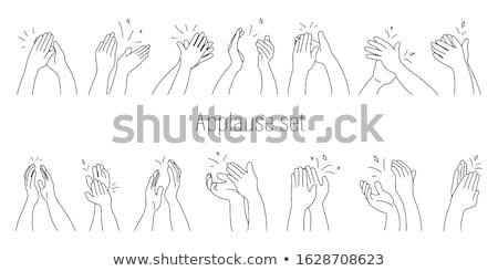 dancing man hand drawn outline doodle icon stock photo © rastudio