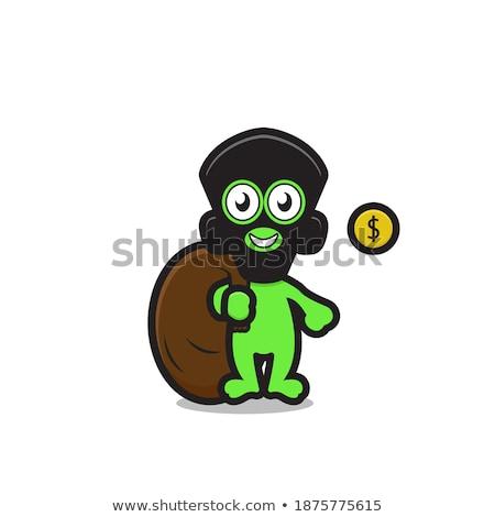 Cartoon sonriendo ladrón robot Foto stock © cthoman