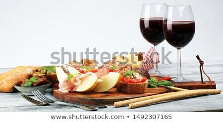 Italian antipasti wine snacks set. Italian food. Stock photo © Illia