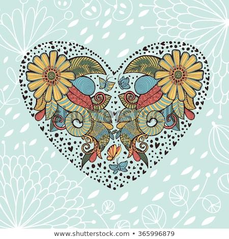 Belo bonitinho cartão quadro espaço texto Foto stock © Lady-Luck