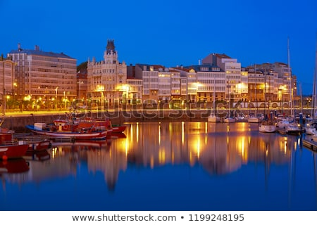 La Coruna sunset port marina in Galicia Spain Stock photo © lunamarina
