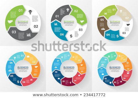 Vector circle infographic template for graphs, charts, diagrams. Pie chart concept with 5 options, p Stock photo © kyryloff