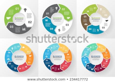 ベクトル サークル インフォグラフィック テンプレート チャート ストックフォト © kyryloff